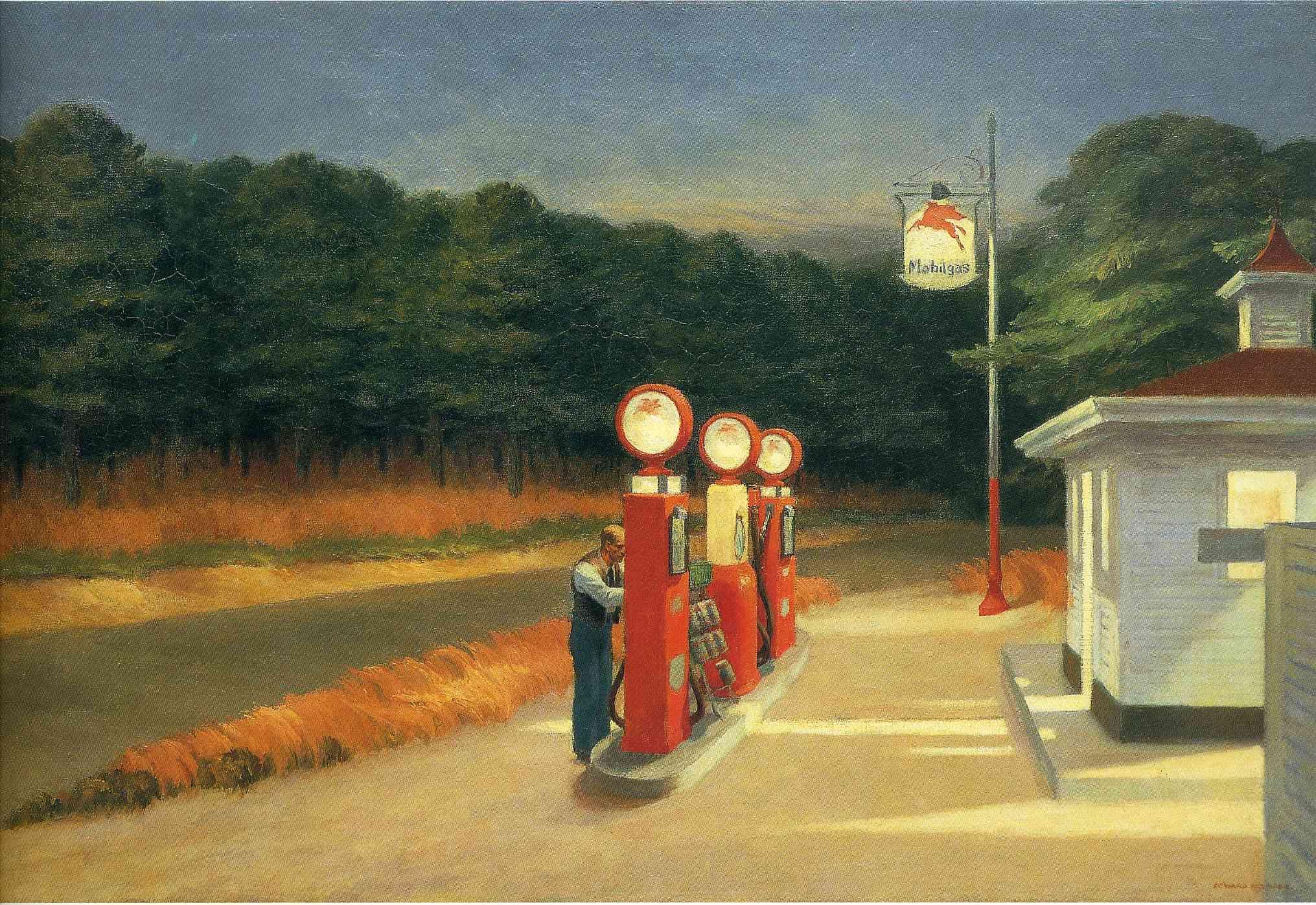 Edward Hopper - Gas, 1940, oil on canvas