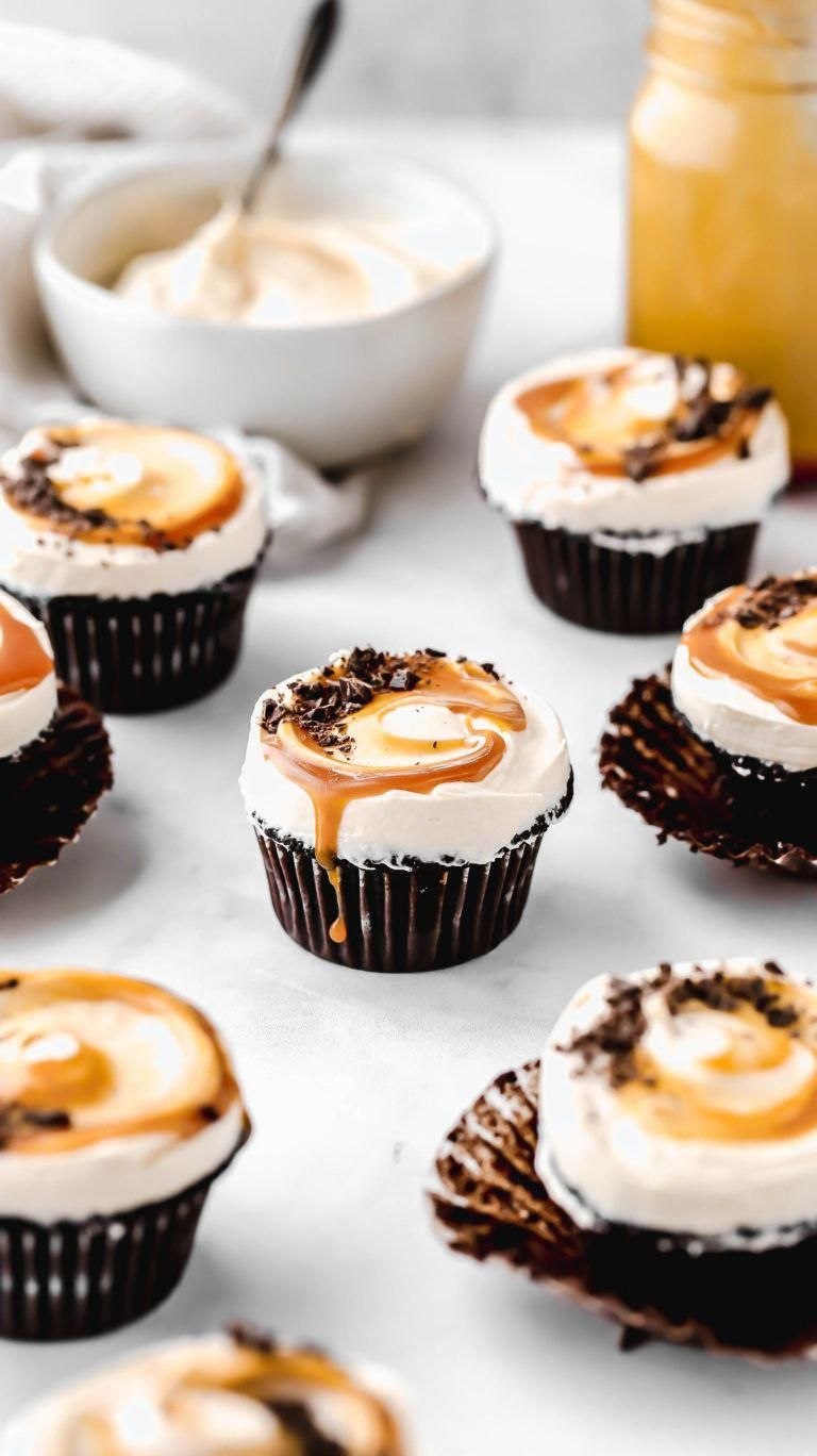 These Guinness Chocolate Cupcakes have to be the BEST EVER chocolate cupcakes. No joke. They're even topped with a delicious salted caramel buttercream.