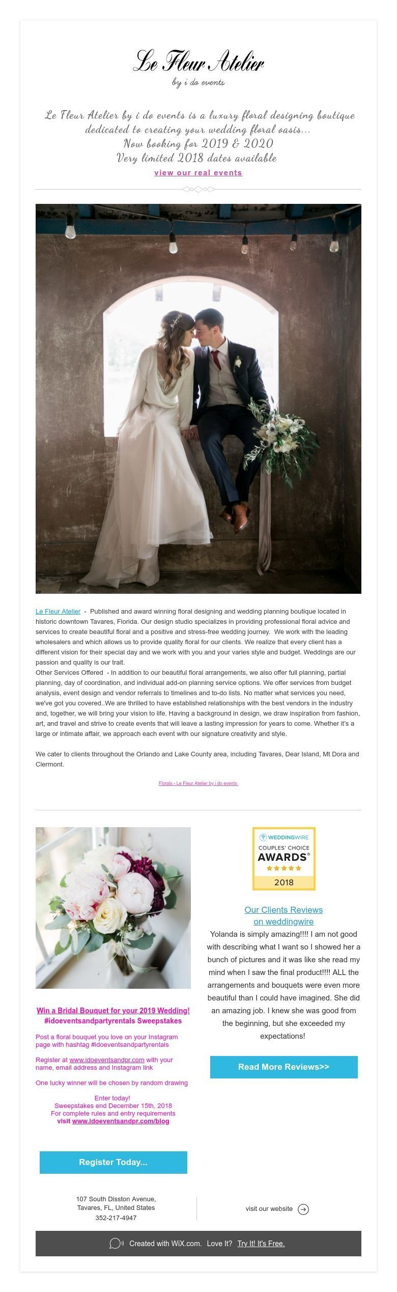 Le Fleur Atelier by i do events is a luxury floral designing