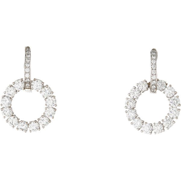 ff624c412 Chopard Diamond Circle Drop Earrings ($6,495) ❤ liked on Polyvore featuring  jewelry, earrings, white, circular earrings, diamond earring jewelry, ...