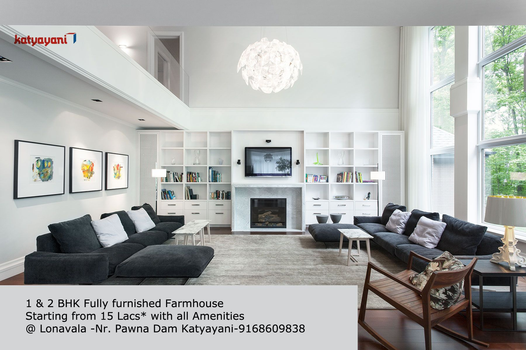 1 2 Bhk Fully Furnished Farmhouse Starting From 15 Lacs All Amenities Lonav Modern Living Room Interior Living Room Design Modern Living Room Modern