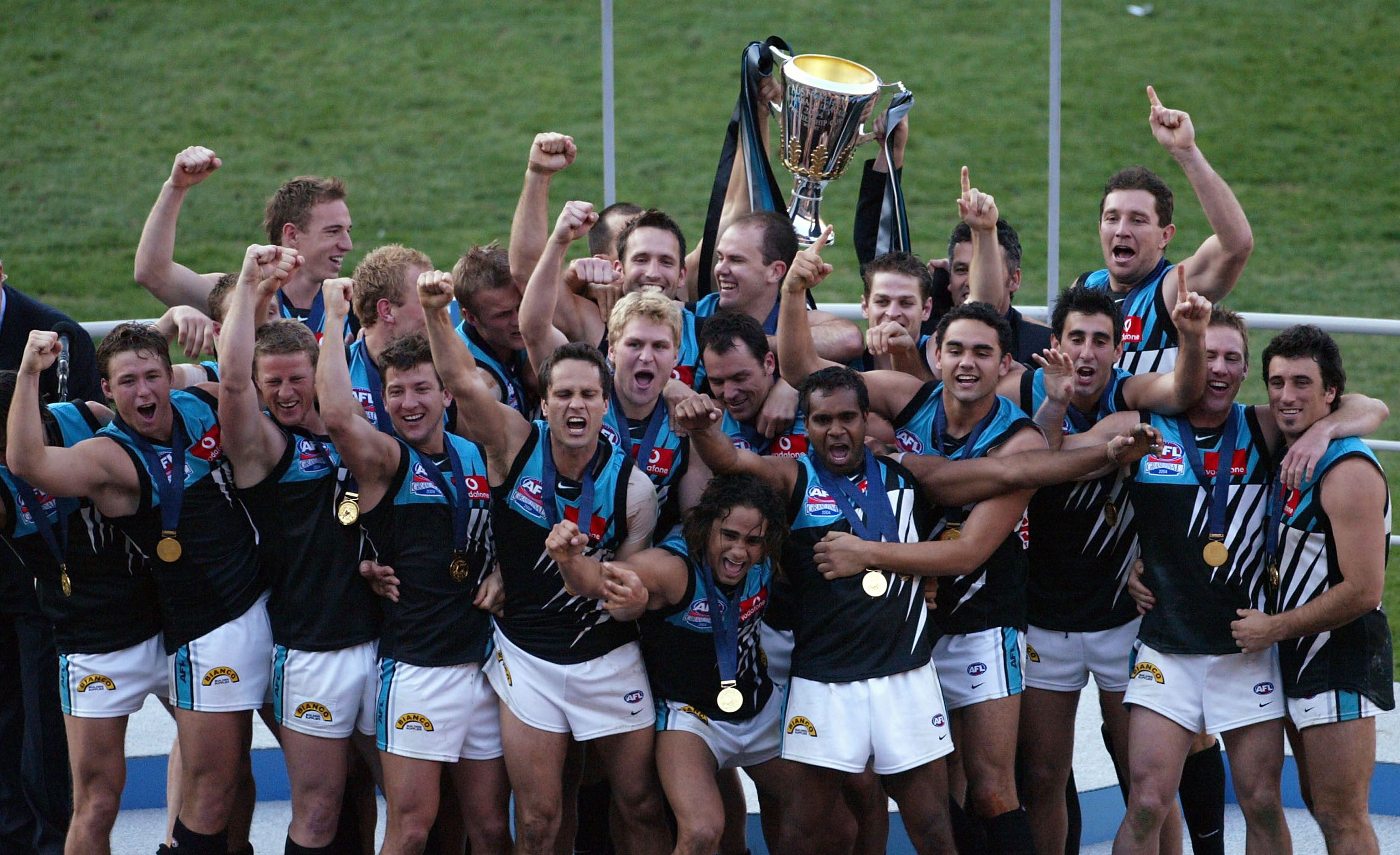 Port Adelaide's inaugural AFL Premiership team in 2004