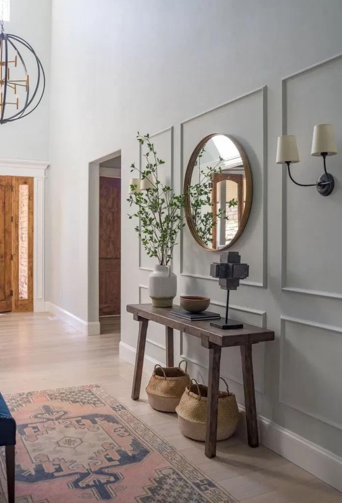 41 Stunning Mid Century Modern Foyer Interiors You Deserve To Walk Through European Home Decor House Interior Hall Decor
