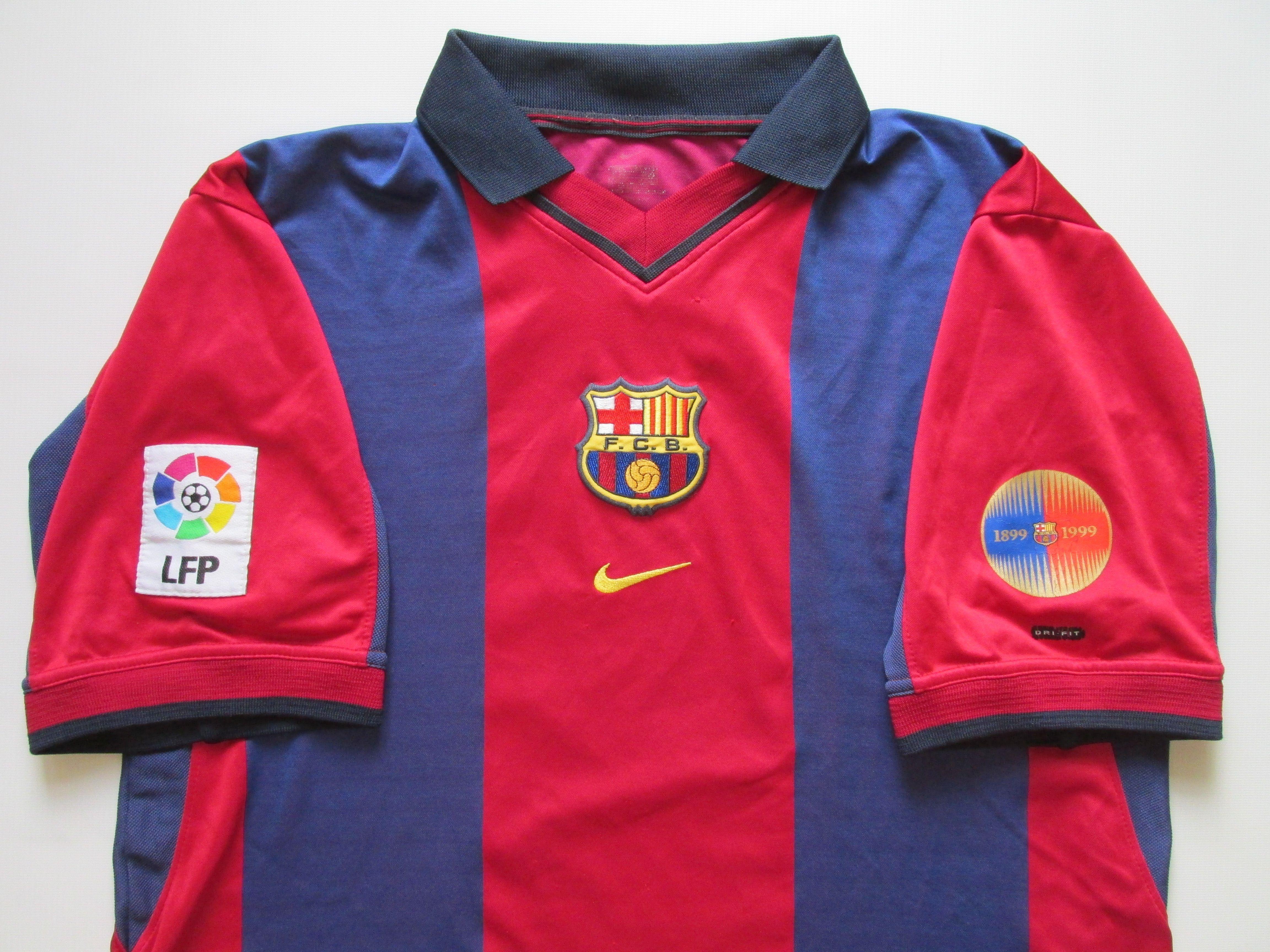 buy popular 1912e 64f52 Barcelona 2000/2001 home football shirt by Nike camiseta ...