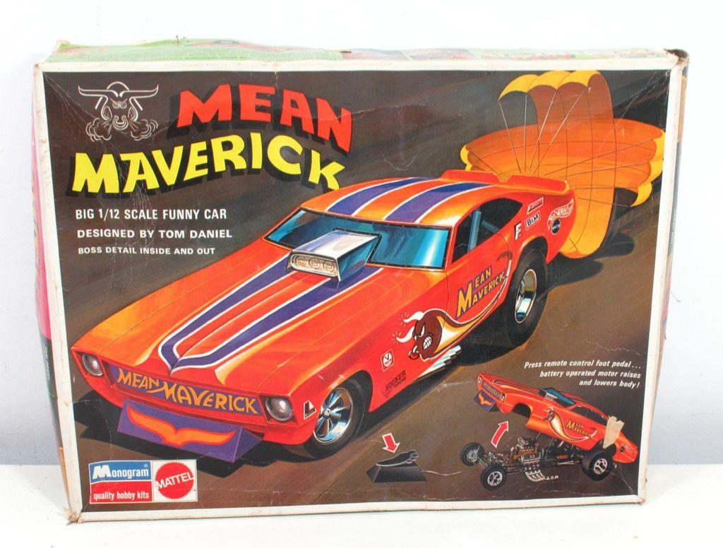 Mean Maverick Model Car Vintage Mean Maverick Tom Daniel 1 12 Funny Car Model Kit Monogram Model Cars Kits Car Humor Model Kit