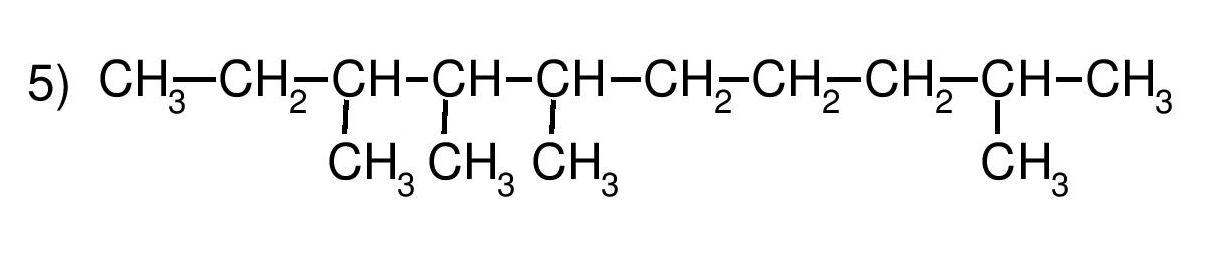 Ejercicio 5, nombrar. Química, formulación orgánica, alcanos.