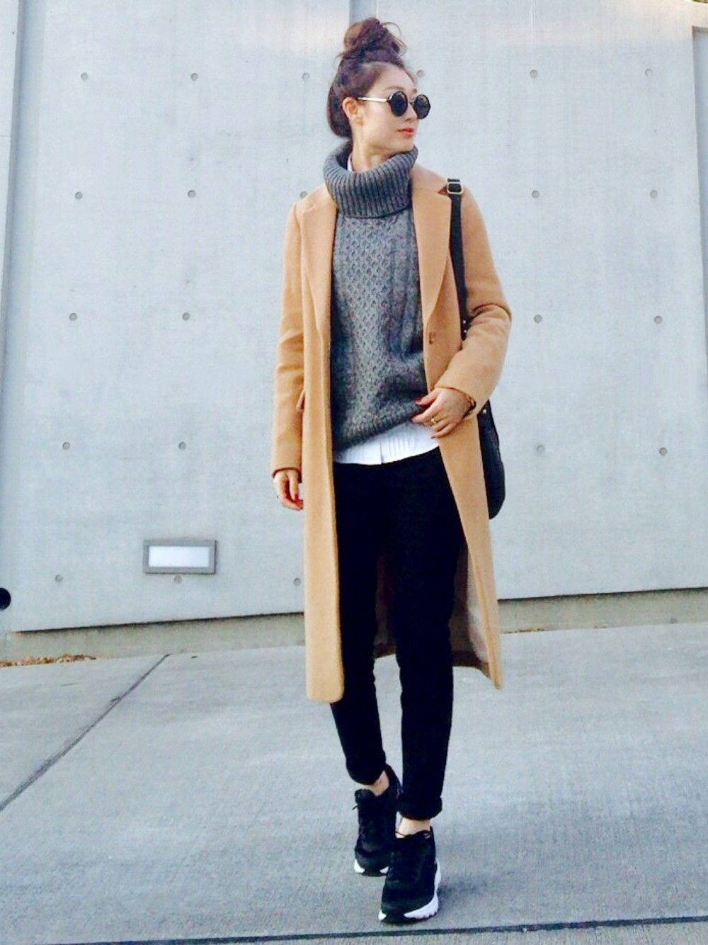 Cream Proportion Body Dressingのチェスターコートを使ったコーディネート Wear モノトーン ファッション レディース ファッションスタイル ファッション