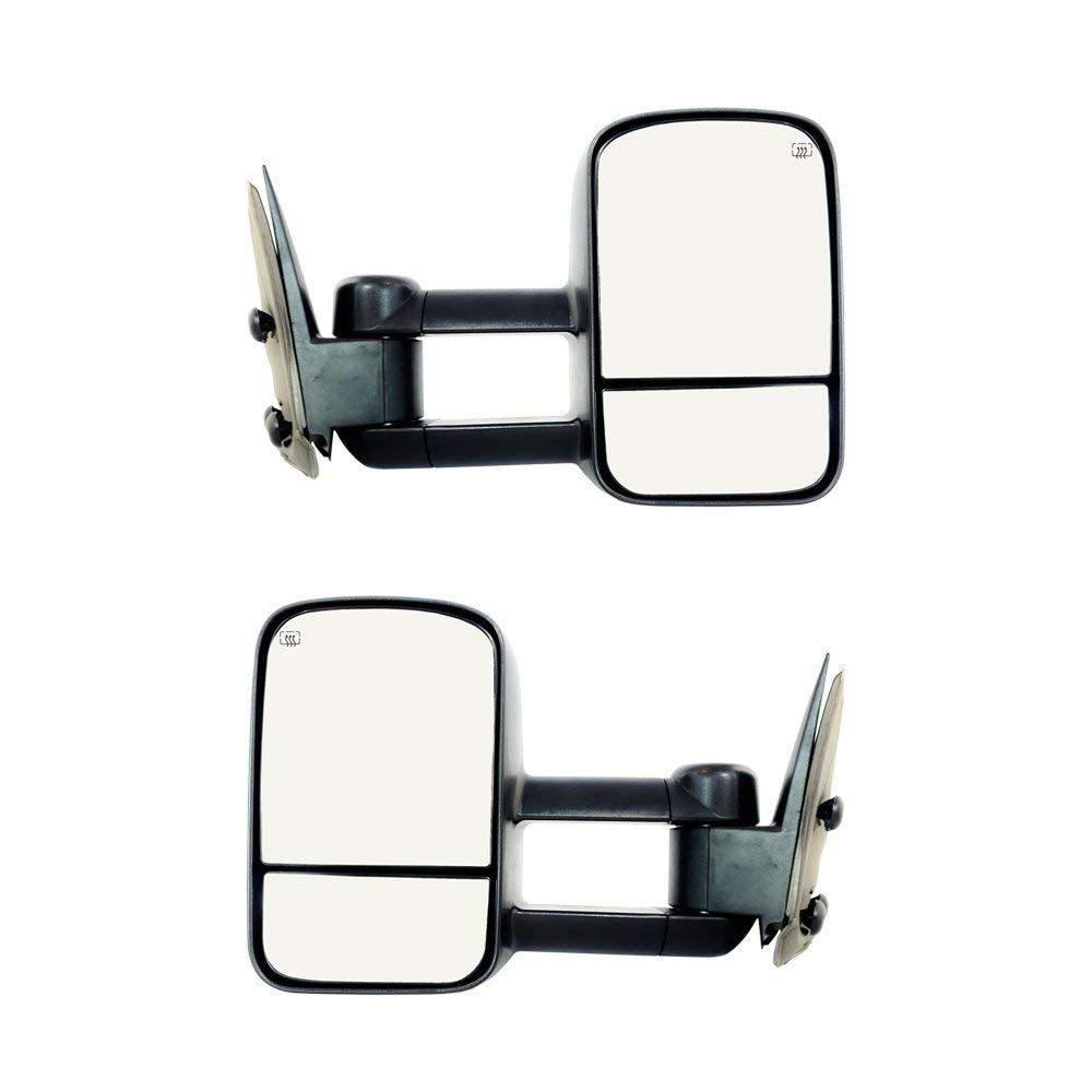 Mapm Lh Rh Power Heated Tow Side Mirrors Replacement For Chevy