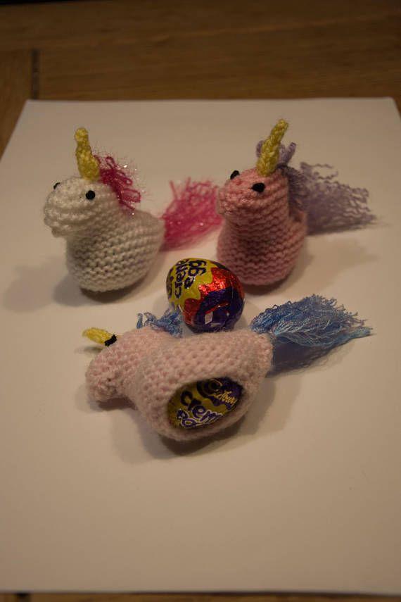 Knitting Pattern: Unicorn Creme Egg Cosy | Unicorns, Knitting ...
