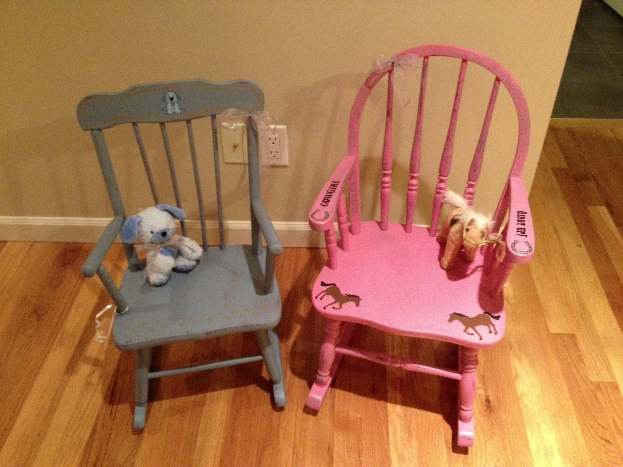 My little pony rocking chair Personalized for two sisters
