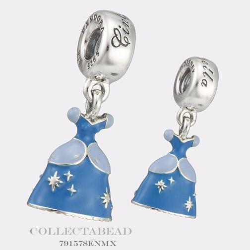 Authentic Pandora Silver Enamel Dangle Disney Cinderella Dress Bead 791578ENMX  | eBay
