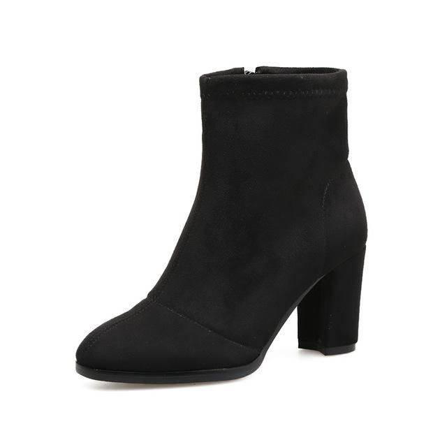 Spring And Autumn Ankle Boots With Zipper – Nads Shoes