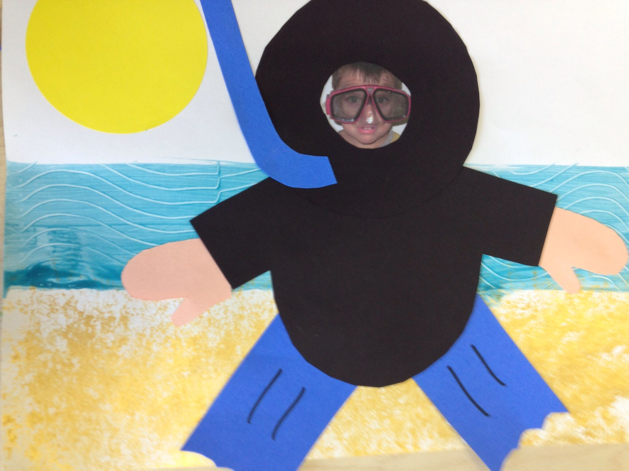 Beach Day Craft Preschool Snorkel