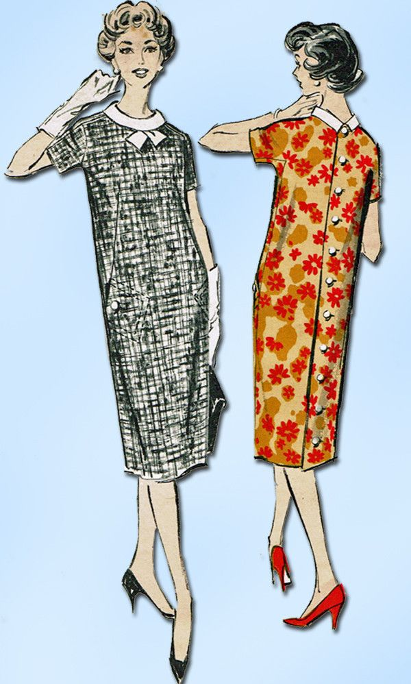 ac93699d967 1950s Vintage Advance Sewing Pattern 8884 Uncut MIsses Maternity Dress Sz  14 34B