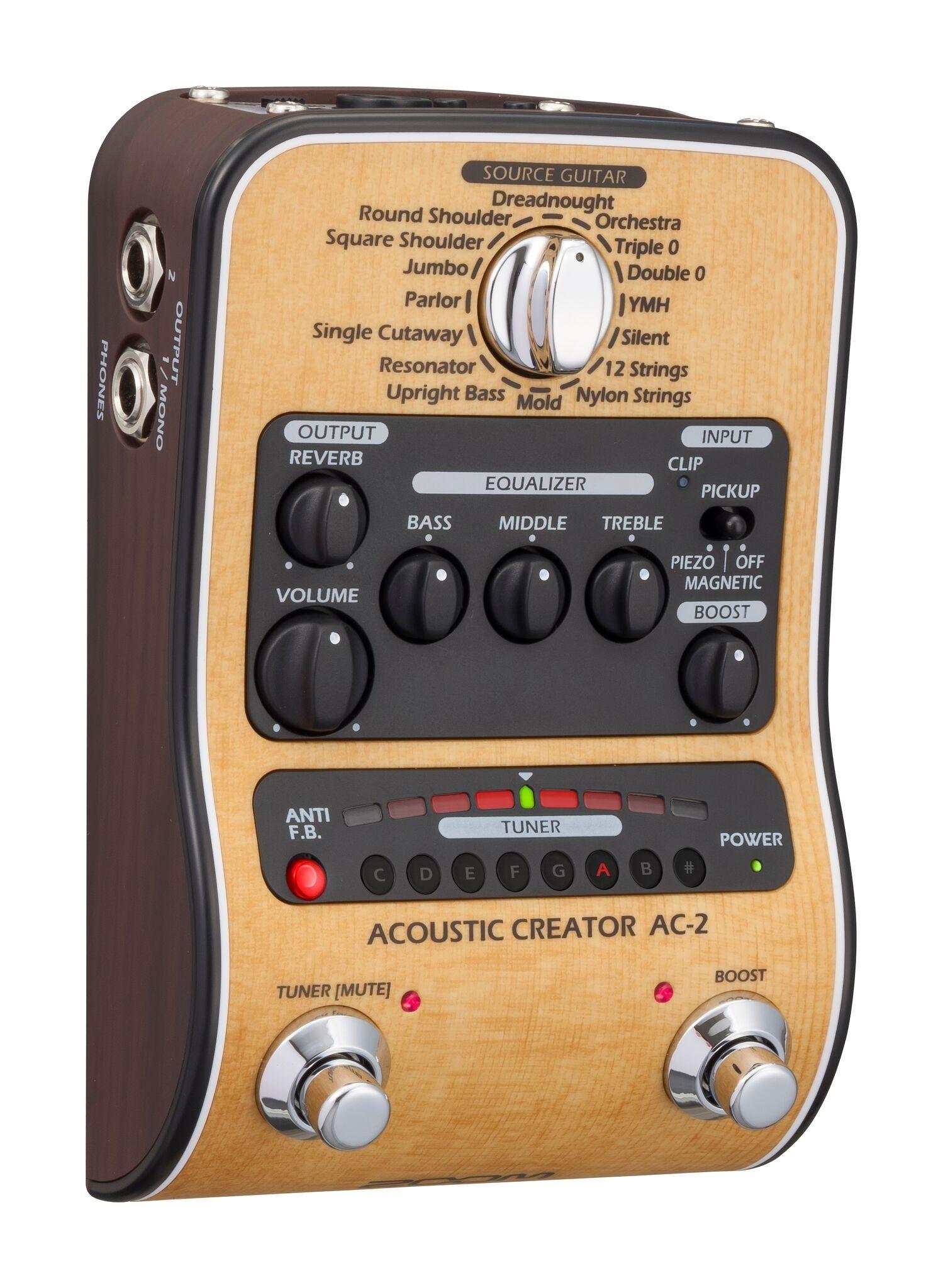 Zoom Ac 2 Acoustic Guitar Fx Pedal Acoustic Guitar Acoustic Guitar