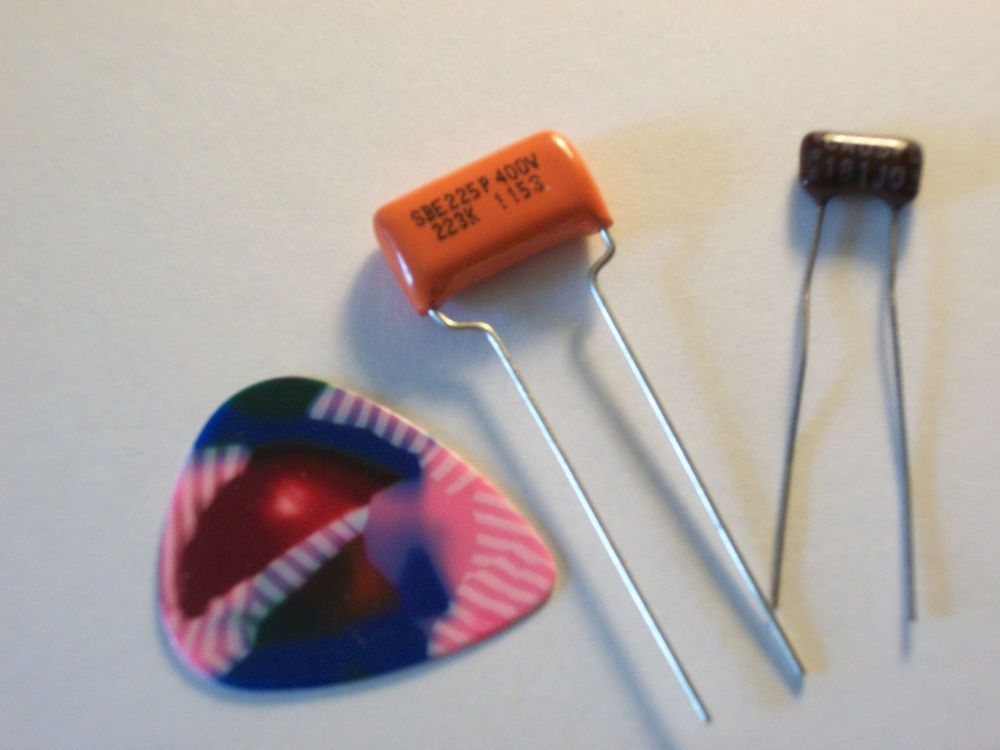 PRS Style Guitar Tone Capacitor Upgrade Easy Mod Orange Drop and Silver Mica