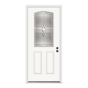 jeld wen 36 in x 80 in kingston 1 2 lite primed premium steel