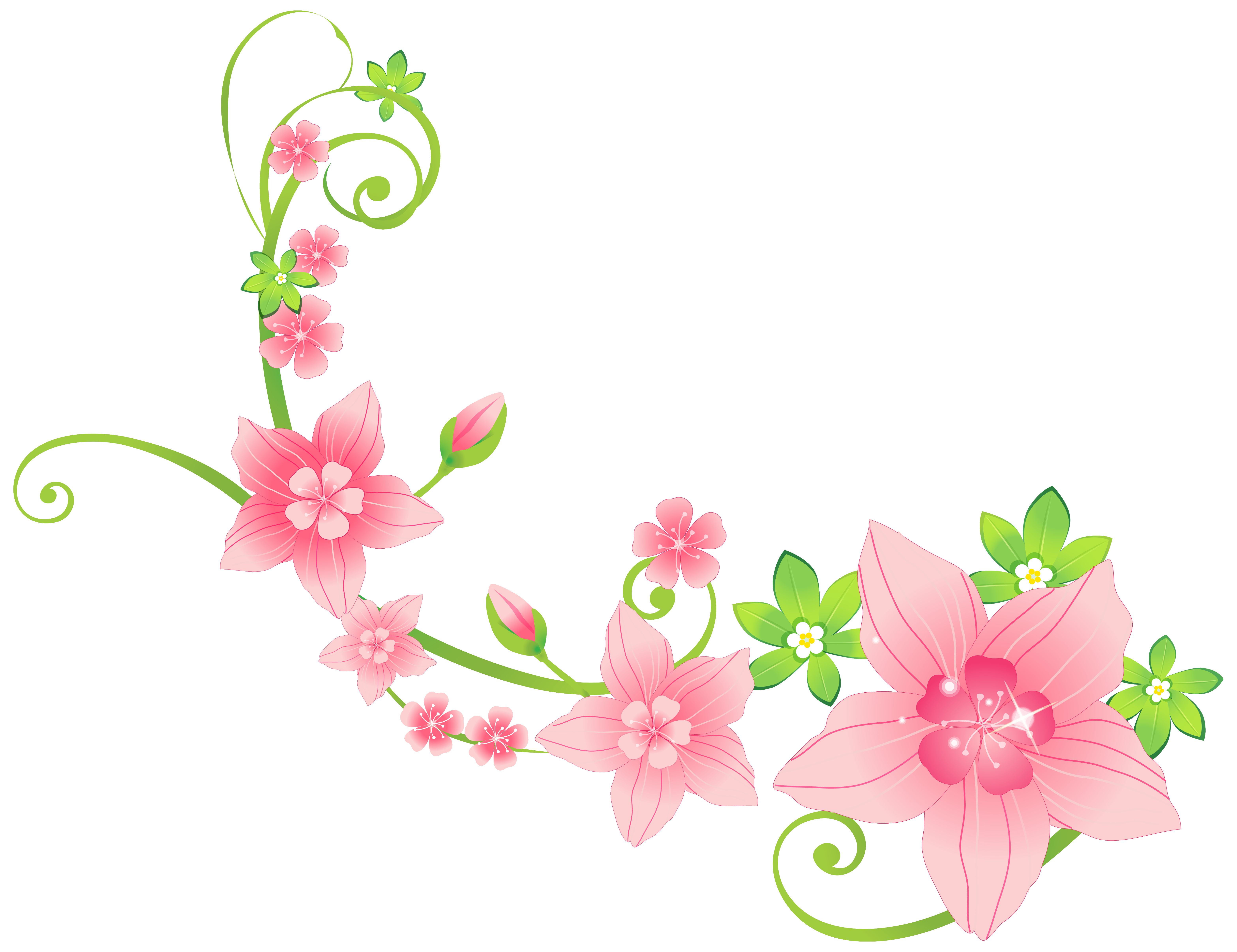 Pink Floral Decoration PNG ClipArt Image Gallery