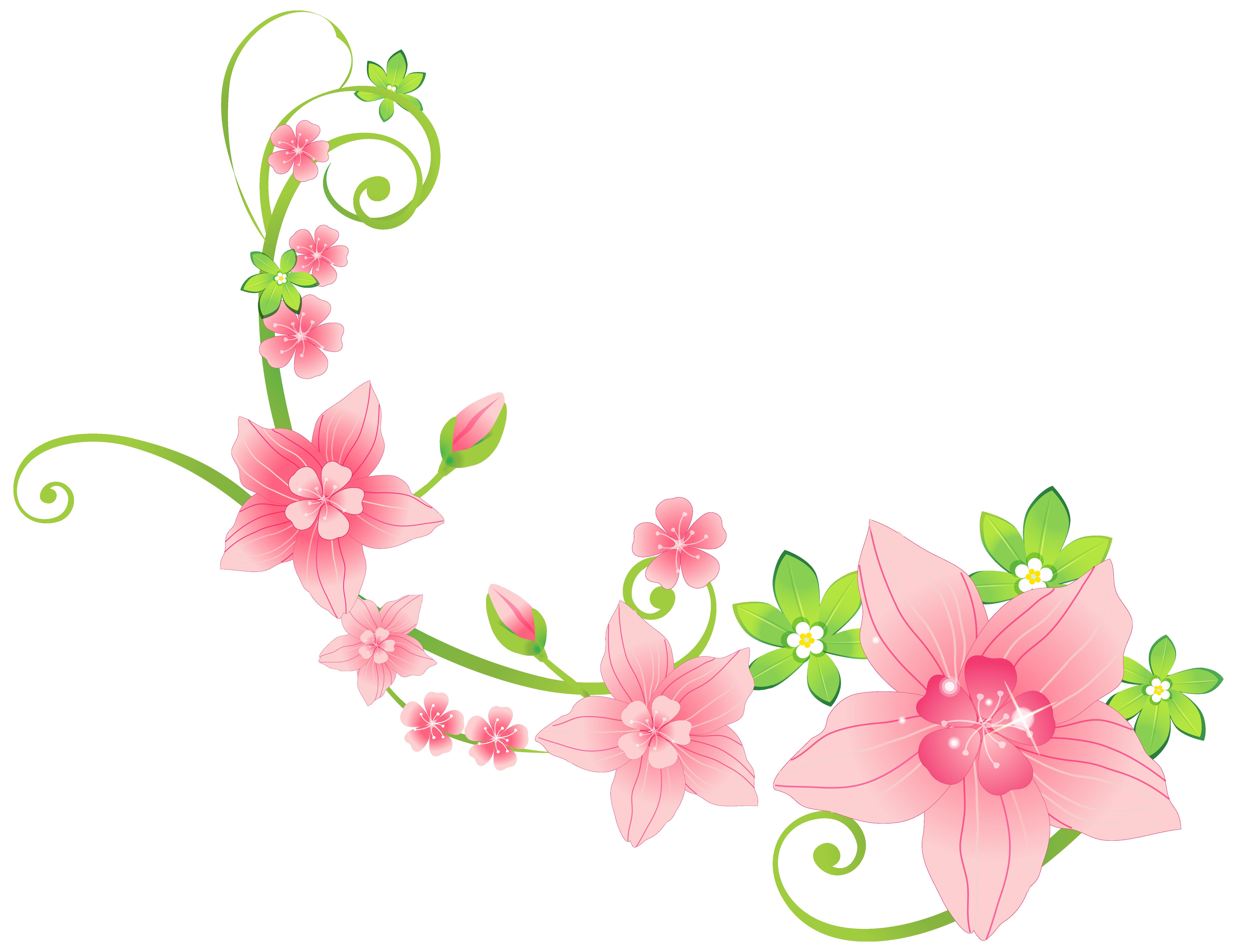 Floral Decoration pink floral decoration png clip-art image | gallery yopriceville