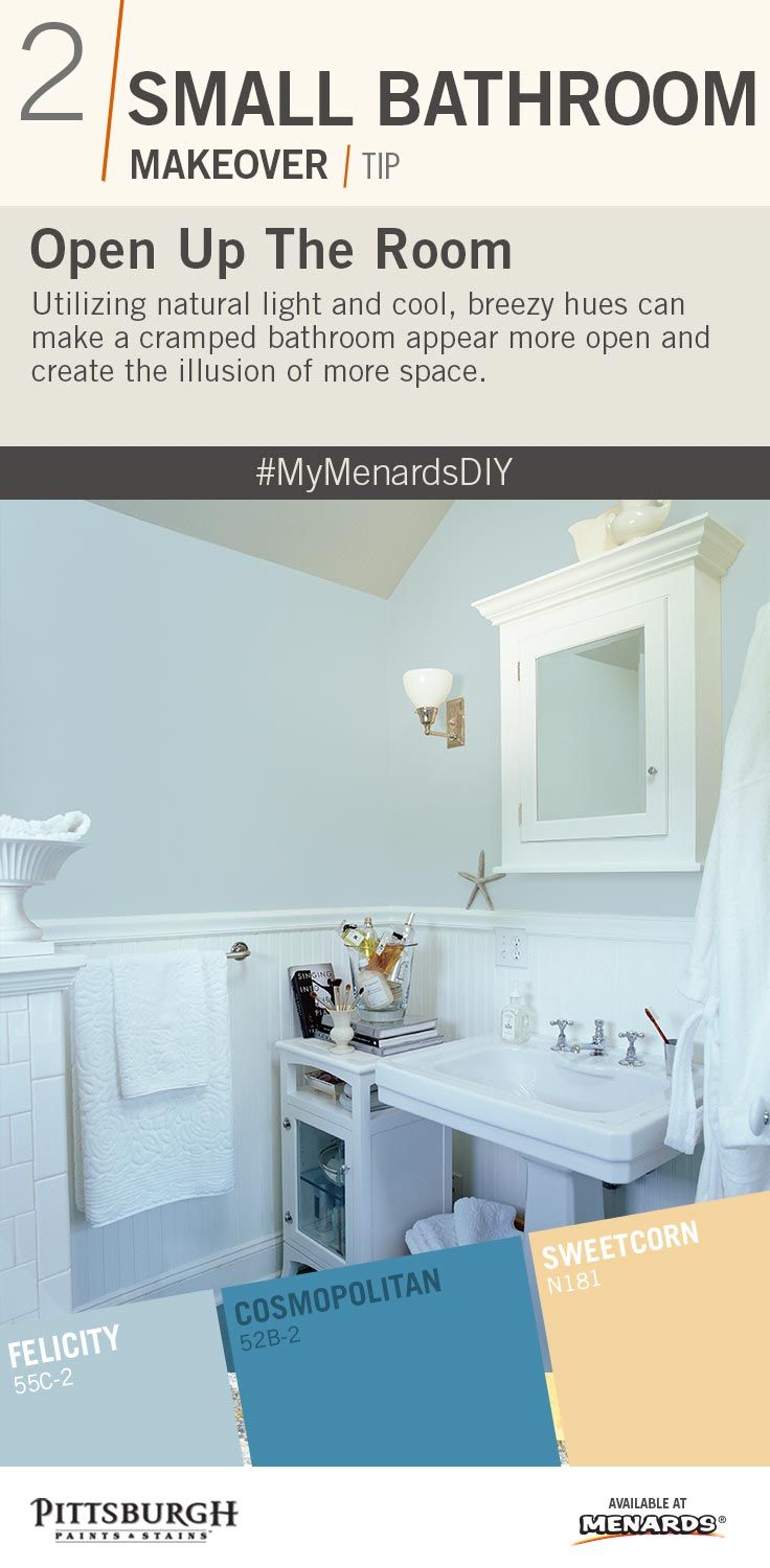 Small Bathroom Paint Color Tip : Open up your small bathroom by ...
