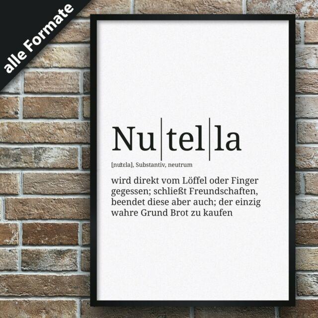 Gallery Definition Nutella   Premium Spruch Poster Wohnung Deko Lexikon Duden Zitate    eBay is free HD wallpaper.