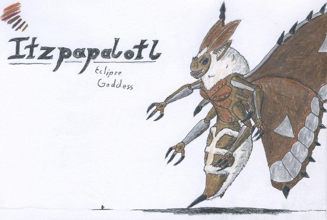 Itzpapalotl, Eclipse Goddess by TheHiddenElephant.deviantart.com on @DeviantArt