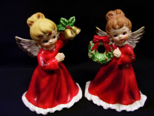 Beautiful Angel figurines--Collectible Vintage Napcoware Porcelain! I have these from my Mother. love!