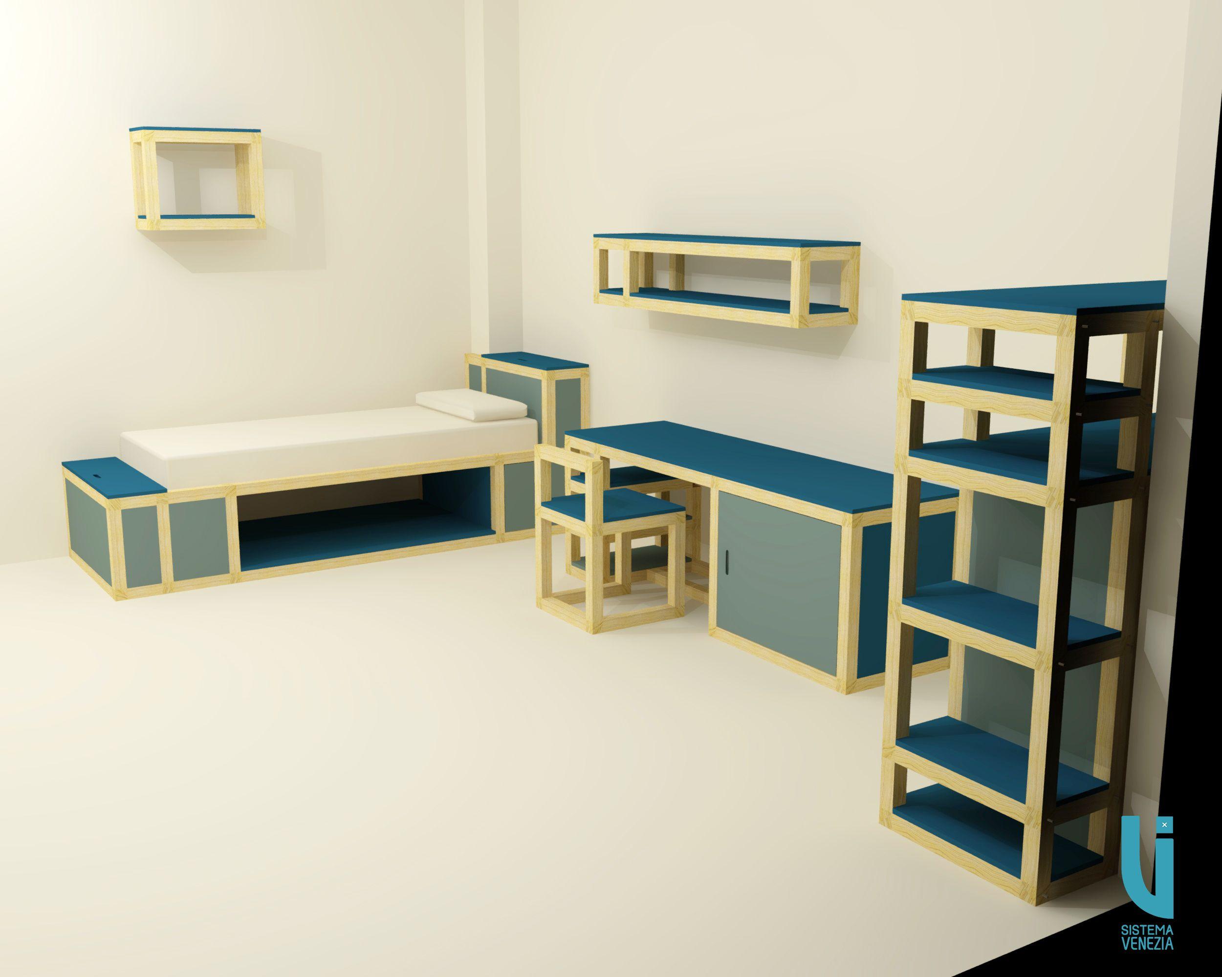 Camera Da Letto Bambino : Camera da letto per bambini costruita con sistemavenezia
