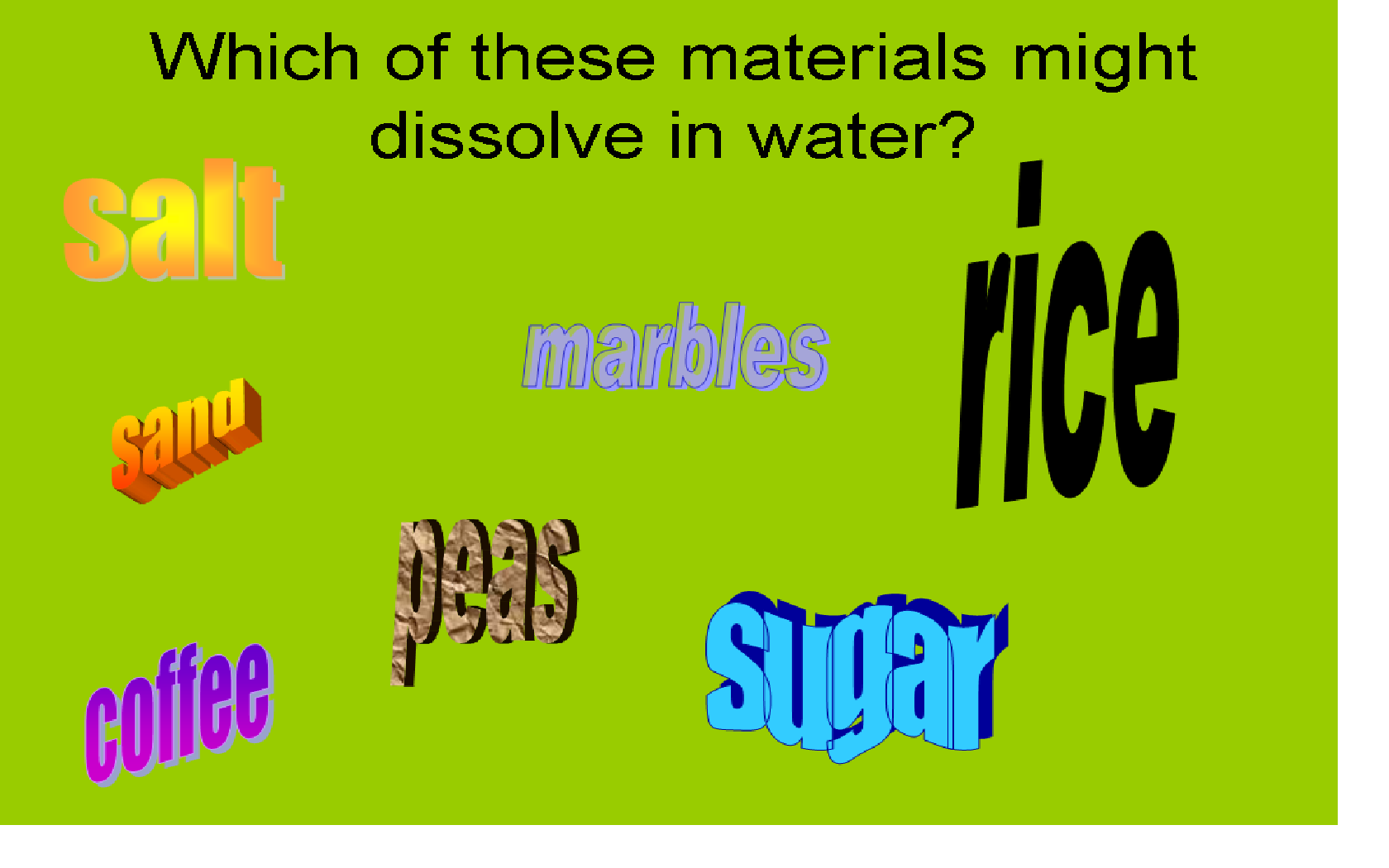 Ks2 And 3 Separating Mixtures Dissolve Mixtures Stem