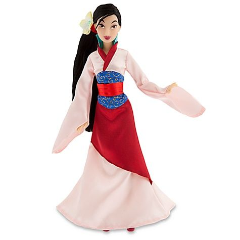 "New Disney Store Mulan 12/"" Princess Poseable Toy Doll Barbie Gown Dress"