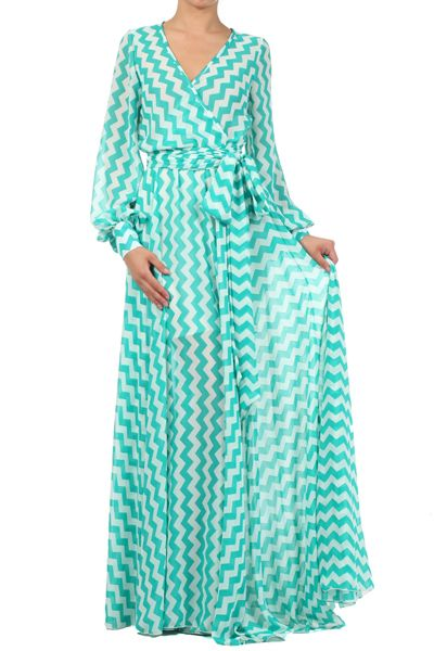 Mint Sheer Loose Fit V-neck Dress With Waist Tie Detail