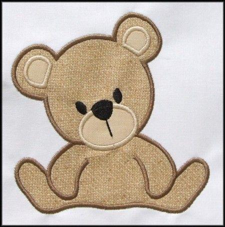 INSTANT DOWNLOAD Teddy Bear Applique designs | APPLIQUES FOR BOTH