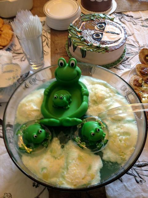 Frog Punch makes a great addition to the baby shower.