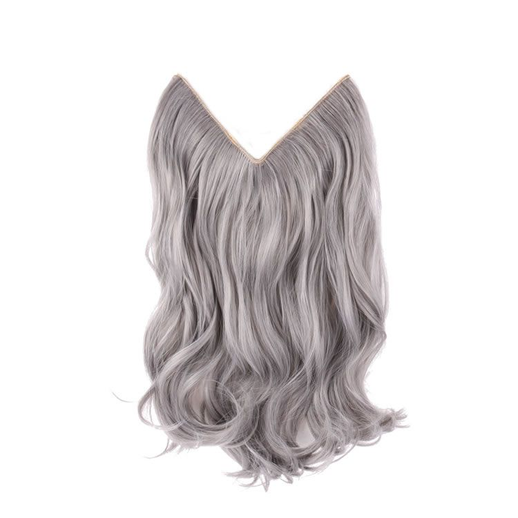Flip In Synthetic Hair Extensions 14 inch Fashion Silver Grey ...