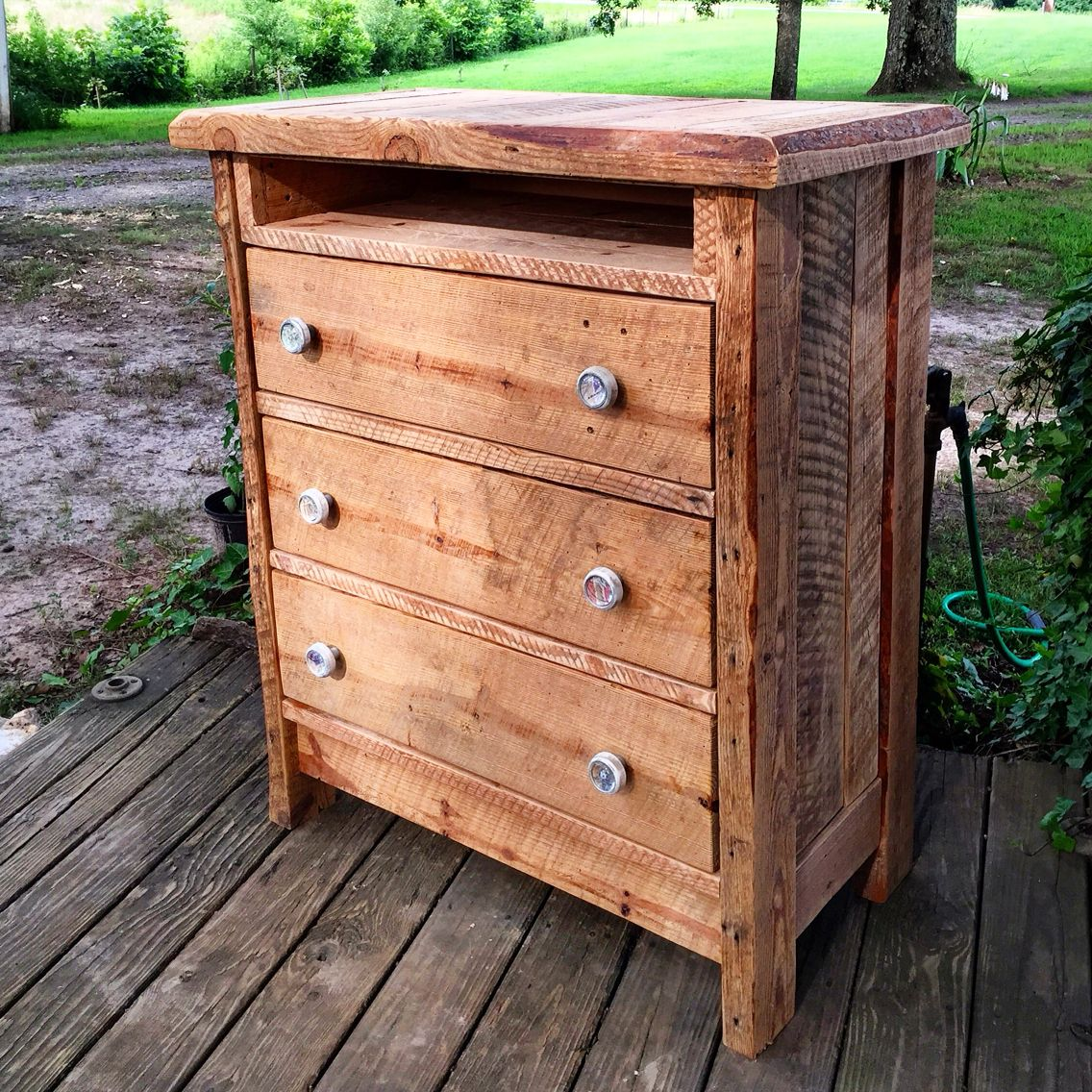 Barnwood Dresser I Built Repurposed The Wood From A Remodeling Project I Did On My 1938 Farm House Dresser Plans Repurposed Home Projects