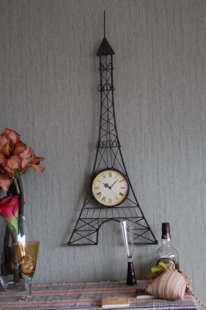 Hanging Eiffel Tower Clock