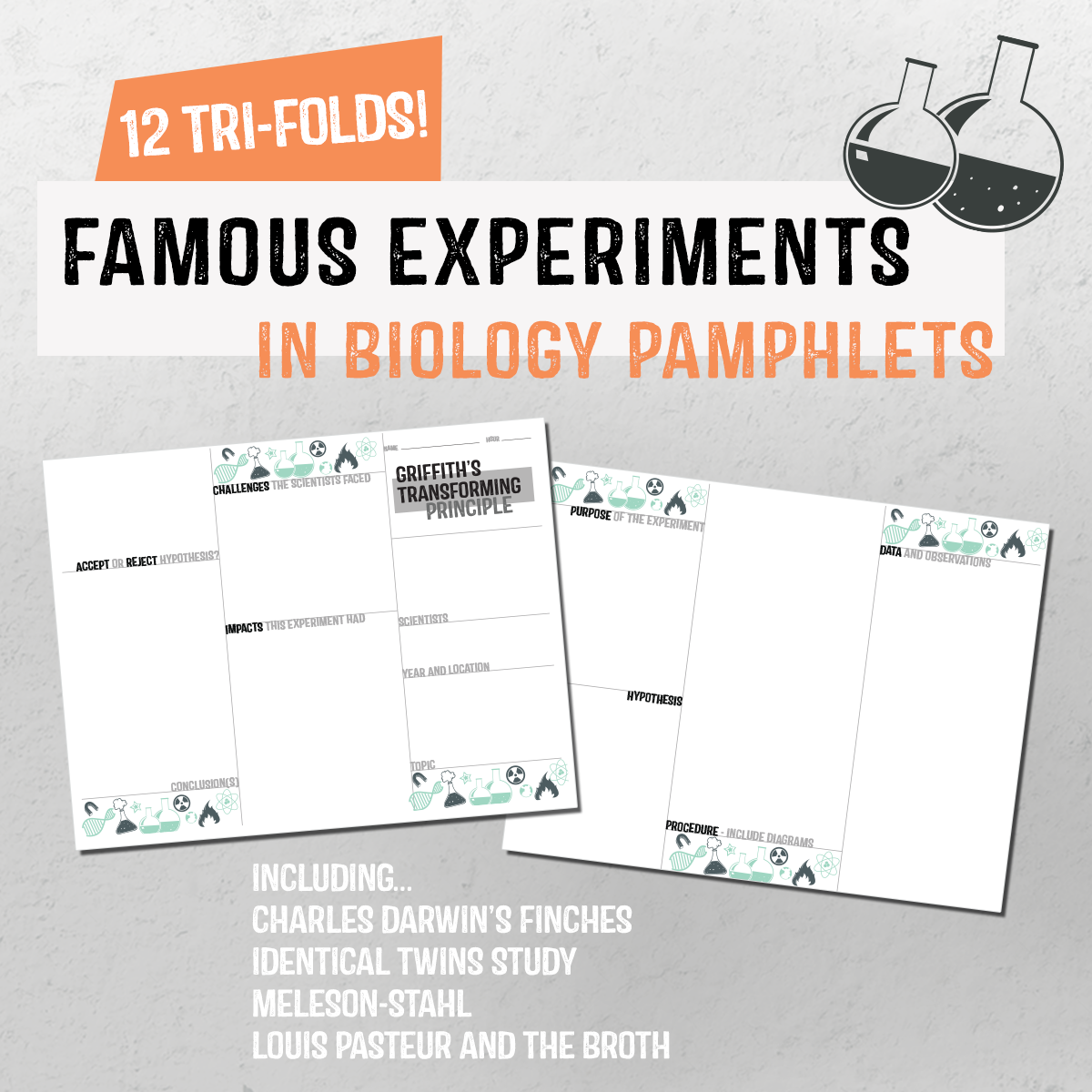 Famous Experiments In Biology Pamphlets Biology Experiments Biology Lessons Biology [ 1200 x 1200 Pixel ]