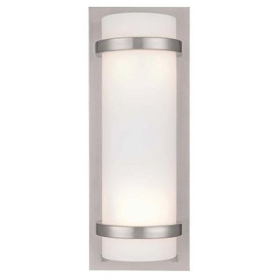 Merveilleux Minka Lavery 2 Light Brushed Nickel Sconce