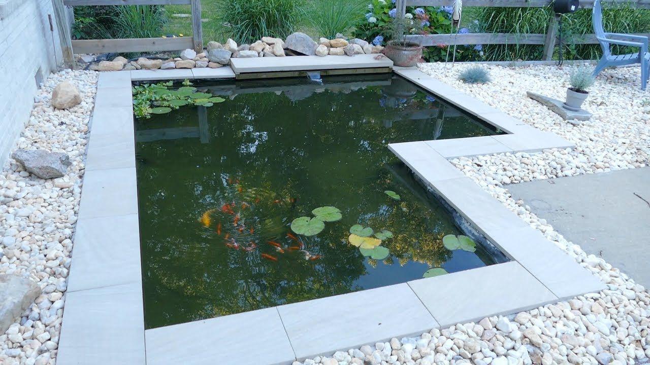 Diy Modern Backyard Koi Pond On A Budget Diy Ponds Backyard Pond Design Ponds Backyard Modern backyard koi pond