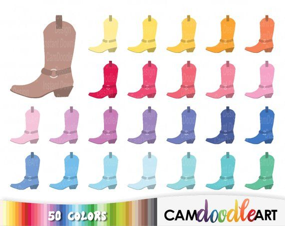 Cowboy boot transparent background PNG cliparts free