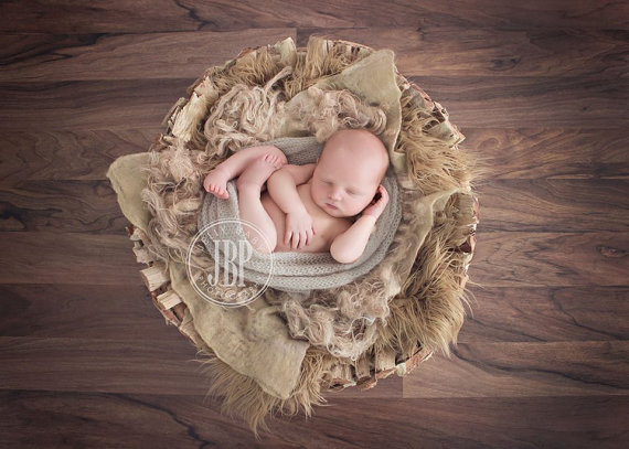 Burlap fluff basket nest filler newborn photo prop organic basket filler photography prop basket stuffer