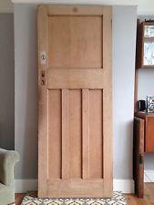 Vintage Art Deco 1930s Internal Doors X 1 4 Panel 1 Over 3 Stripped Vintage Door 1930s Internal Doors Internal Doors