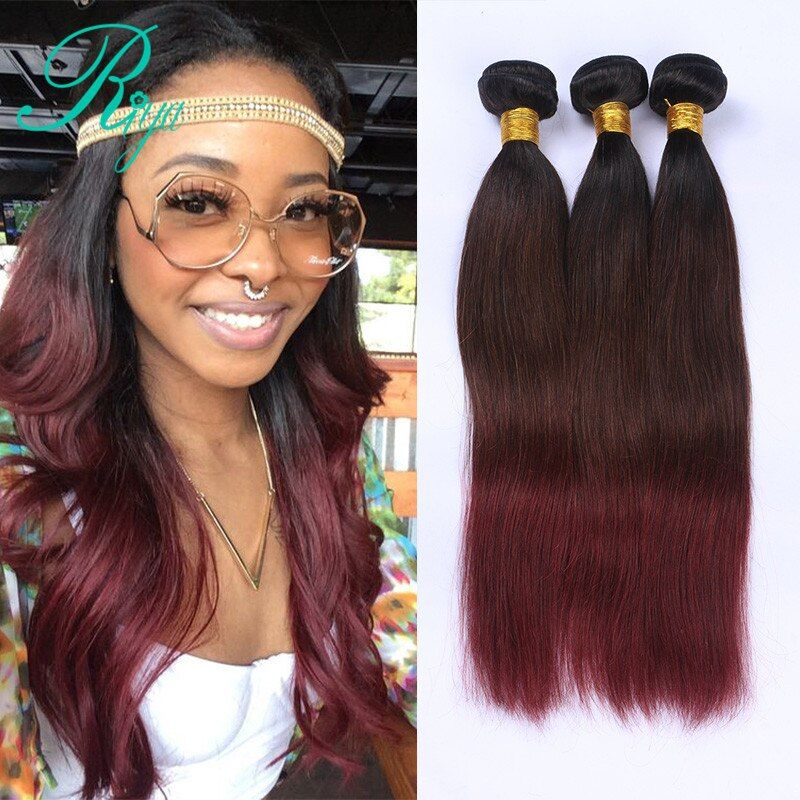 Riya Hair Brazilian Straight 100 Human Hair Wave 1B/4/99j
