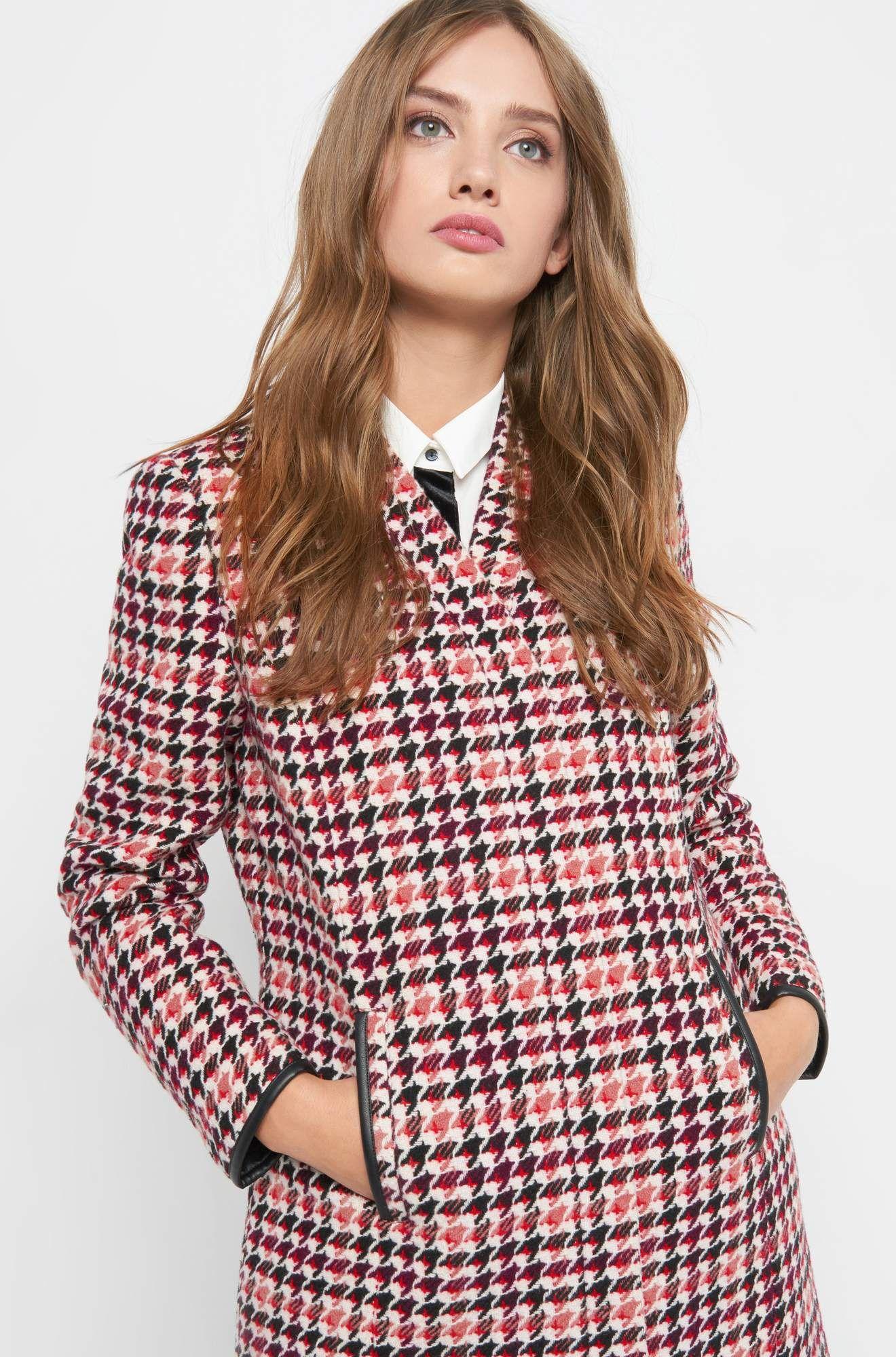 Kurzmantel aus Pepita-Muster   Jacken   Mäntel Damen   Clothes for ... 7c2fb59be7