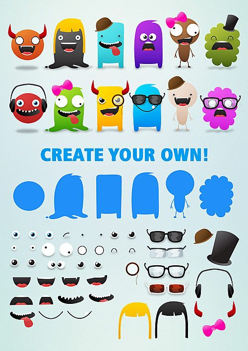 Free Cute Monsters Template  Selina Wing  Fun Blogging Games