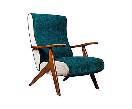 Sedie Reclinabili ~ Poltrona verde anni 50 50s armchair fauteuil vintage seating