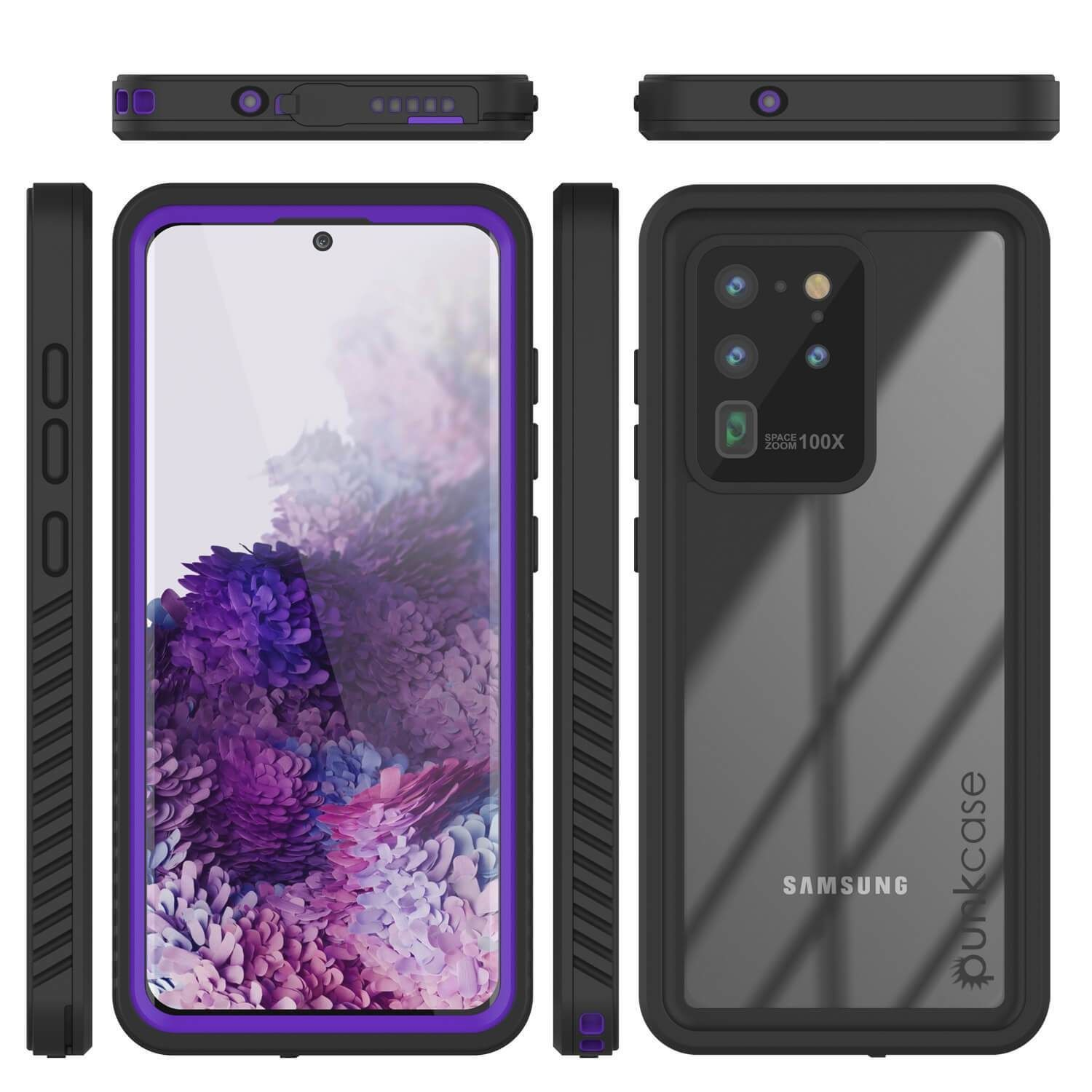 Galaxy S20 Ultra Water Shockproof Slim Screen Protector Case Purple In 2020 Water Proof Case Galaxy Screen Protector