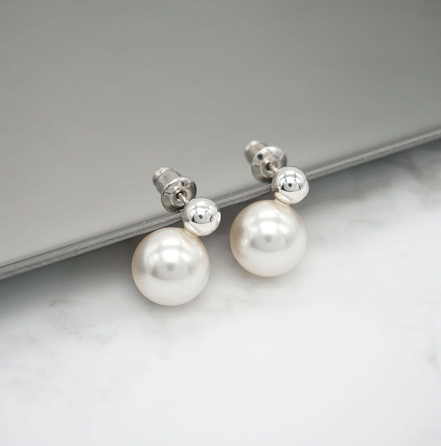 baby gold cultured children in pearl yellow earrings stud