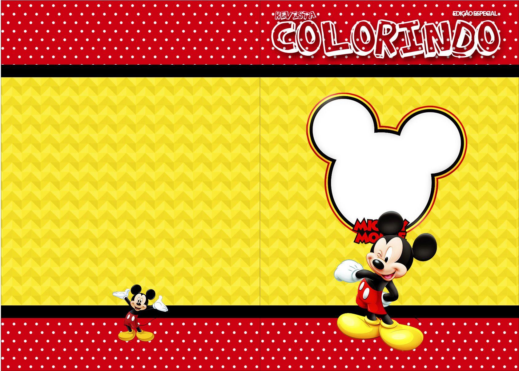 Revista Colorindo Mickey