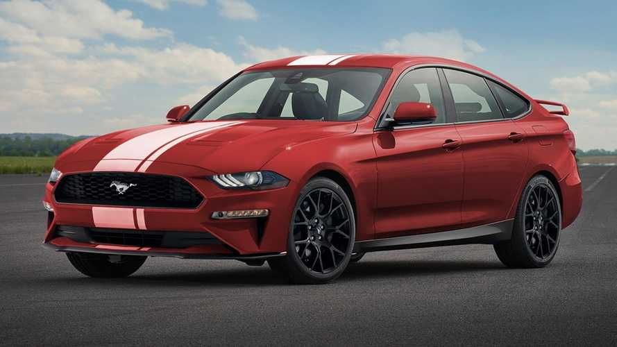 Ford Mustang Four Door Rendered Sports Car For The Whole Family Mustang Ford Mustang Pony Car